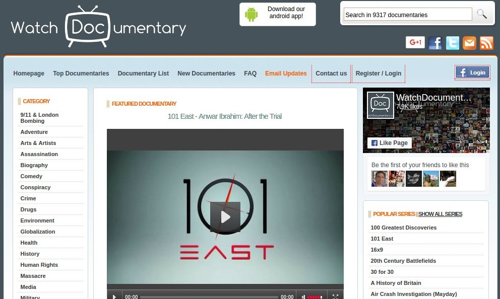 watchdocumentary - Free Movie Sites - Top 10 Free Movie Sites to Legally Watch Full Length Movies Online Free