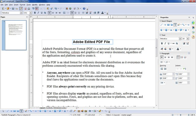 apache-openoffice-draw - 10 Best PDF Editors to Edit PDF Files