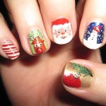 Best Christmas Nail Art Ideas and Designs -7 Simple Yet Attractive Christmas Nail Art Ideas and Designs for Holidays