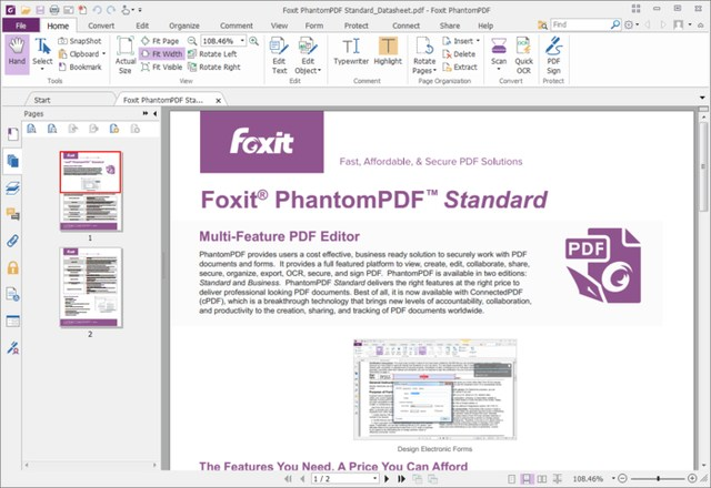 foxit-phantom-pdf-editor - 10 Best PDF Editors to Edit PDF Files
