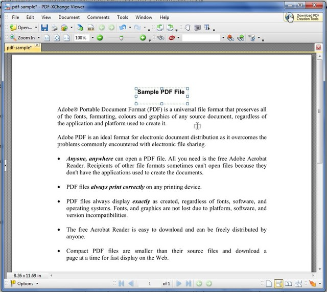 how to delete text in pdf xchange viewer