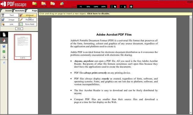pdfescape - 10 Best PDF Editors to Edit PDF Files