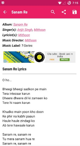 lyricsmint - Best Song Lyrics Apps for Android - Best Apps for Lyrics