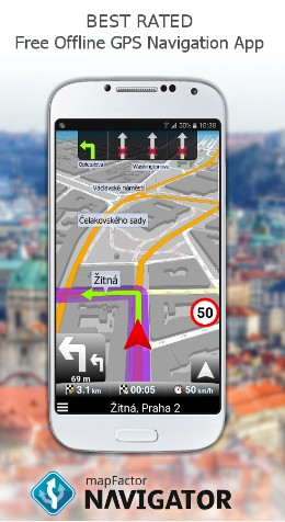 map factor - navigation apps for Android - Top 9 Best Free Navigation Apps for Android - best apps for navigation