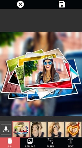 PIP Selfie editor - best android selfie camera apps - Selfie Camera Apps for Android