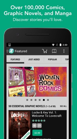 comiXology - best comic apps for Android - Comic Book Reader App - Comic Book App for Android - Best Android Comic Book Reader Apps