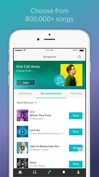 Sing! Karaoke by Smule - Best Karaoke Apps for iPhone with best Karaoke songs ever