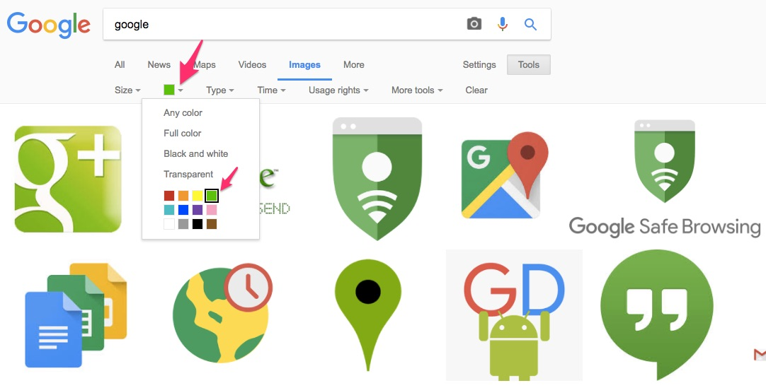 Google Search Tips and Tricks to Find a Particular Color of Images