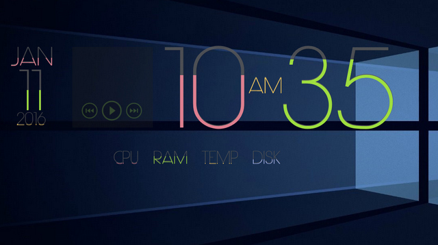LIMIT - Best Rainmeter Skins - Cool Skins for Rainmeter Theme - 20 Best Rainmeter Skins to Customize Rainmeter