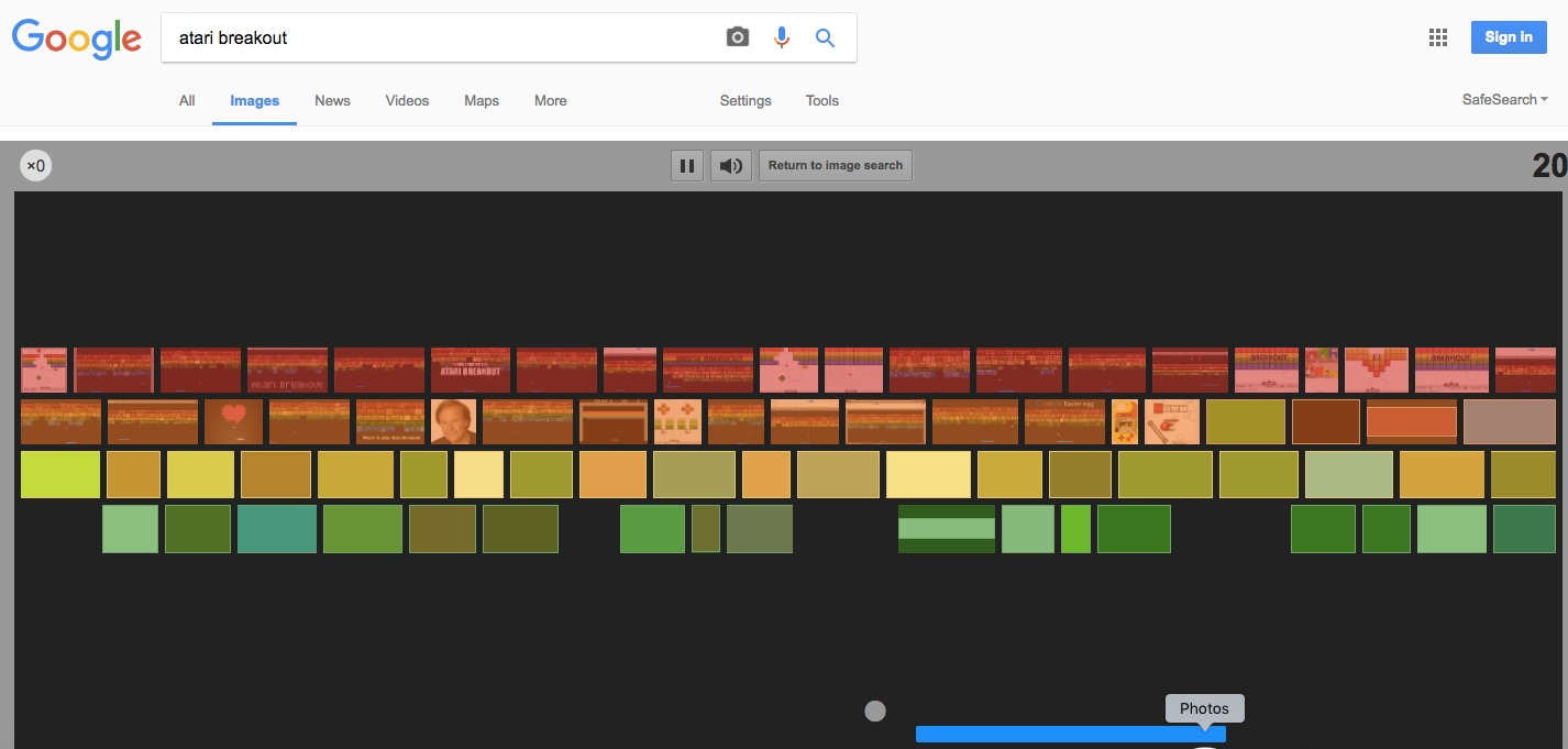 Play Atari Breakout in Google - Google Search Tips and Tricks