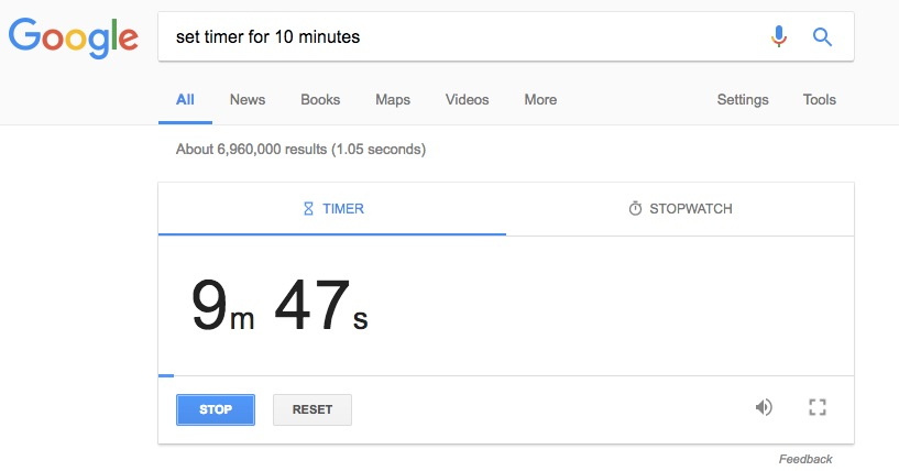 Set a Timer - Google Search Tips and Tricks