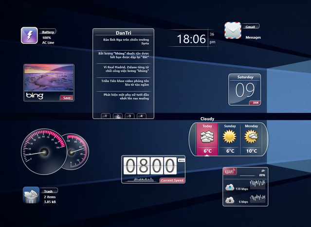 Speed - 20 Best Rainmeter Skins to Customize Rainmeter - Best Rainmeter Skins - Cool Skins for Rainmeter Theme
