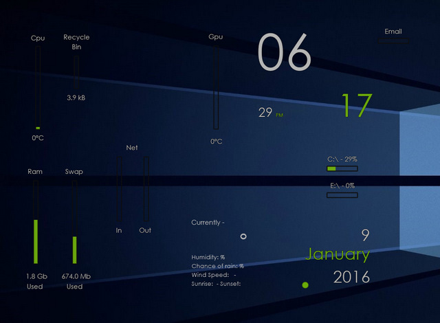 WISP - Best Rainmeter Skins - Cool Skins for Rainmeter Theme - 20 Best Rainmeter Skins to Customize Rainmeter