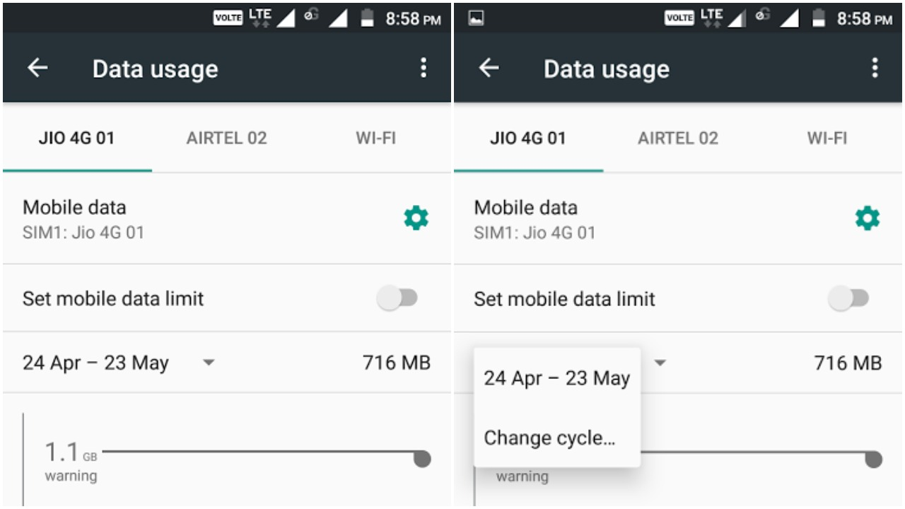 Reset Android data usage - how to reset data usage on Android