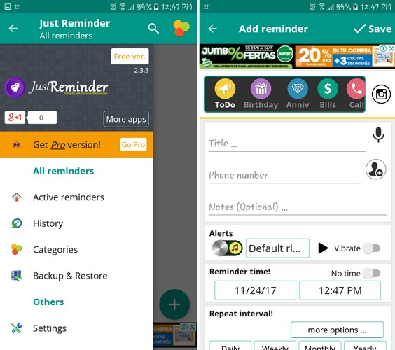 Just Reminder App for Android - Best Daily Reminder Apps for Android