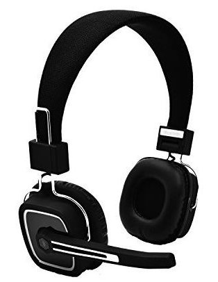 Wireless Bluetooth Headphones Over The Head With Boom Mic - Noise Cancelling Bluetooth Headsets with Boom Mic