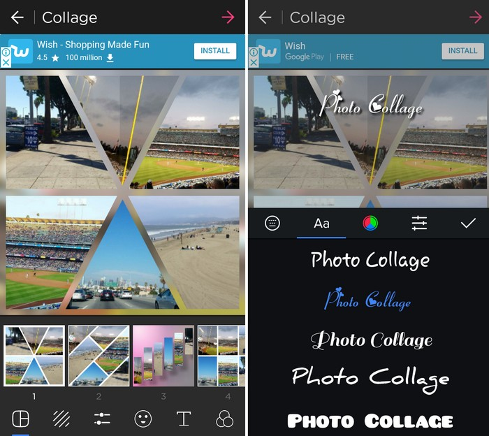 Pics Collage Maker Side by Side Picture App - Best Apps to Put Two Pictures Side by Side