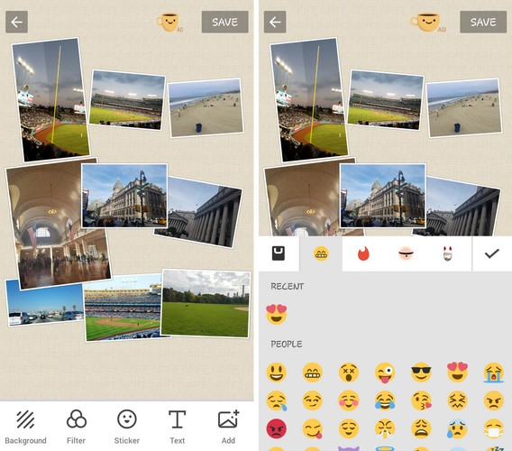 Pics Collage Photo Editor - Best Side by Side Picture App to Put Two Pictures Side by Side