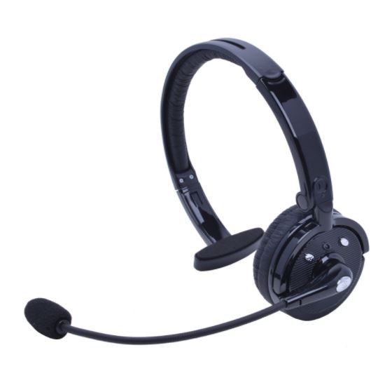 Wireless Bluetooth Headphone with Boom Microphone - Best Bluetooth Headsets with Boom Mic