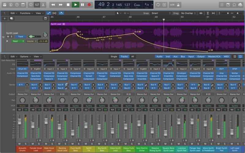 logic x pro - beat making software for Mac