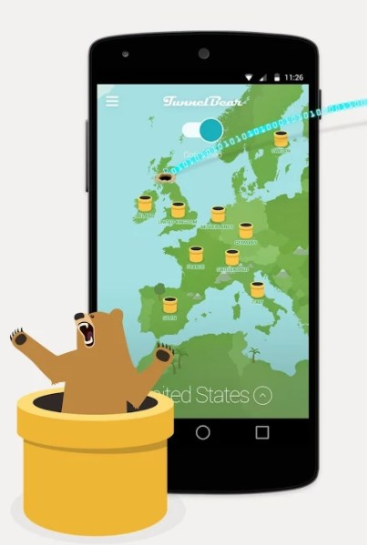 TunnelBear VPN Apps Like Psiphon - Apps Similar to Psiphon - Alternative Apps Like Psiphon
