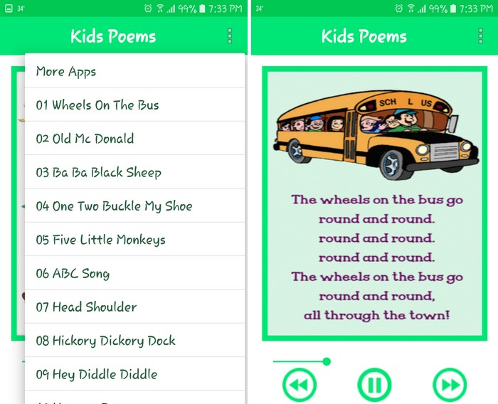 Kids Poems - Best Poetry Writing Apps to Learn Poetry Writing on Android