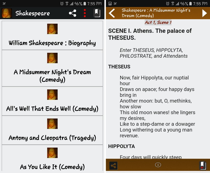 Shakespeare Complete Works - Best Poetry Writing Apps to Learn Poetry Writing on Android