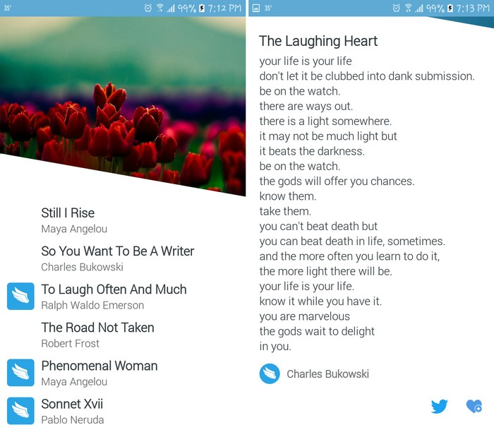 Wings Poems - Best Poetry Writing Apps to Learn Poetry Writing on Android