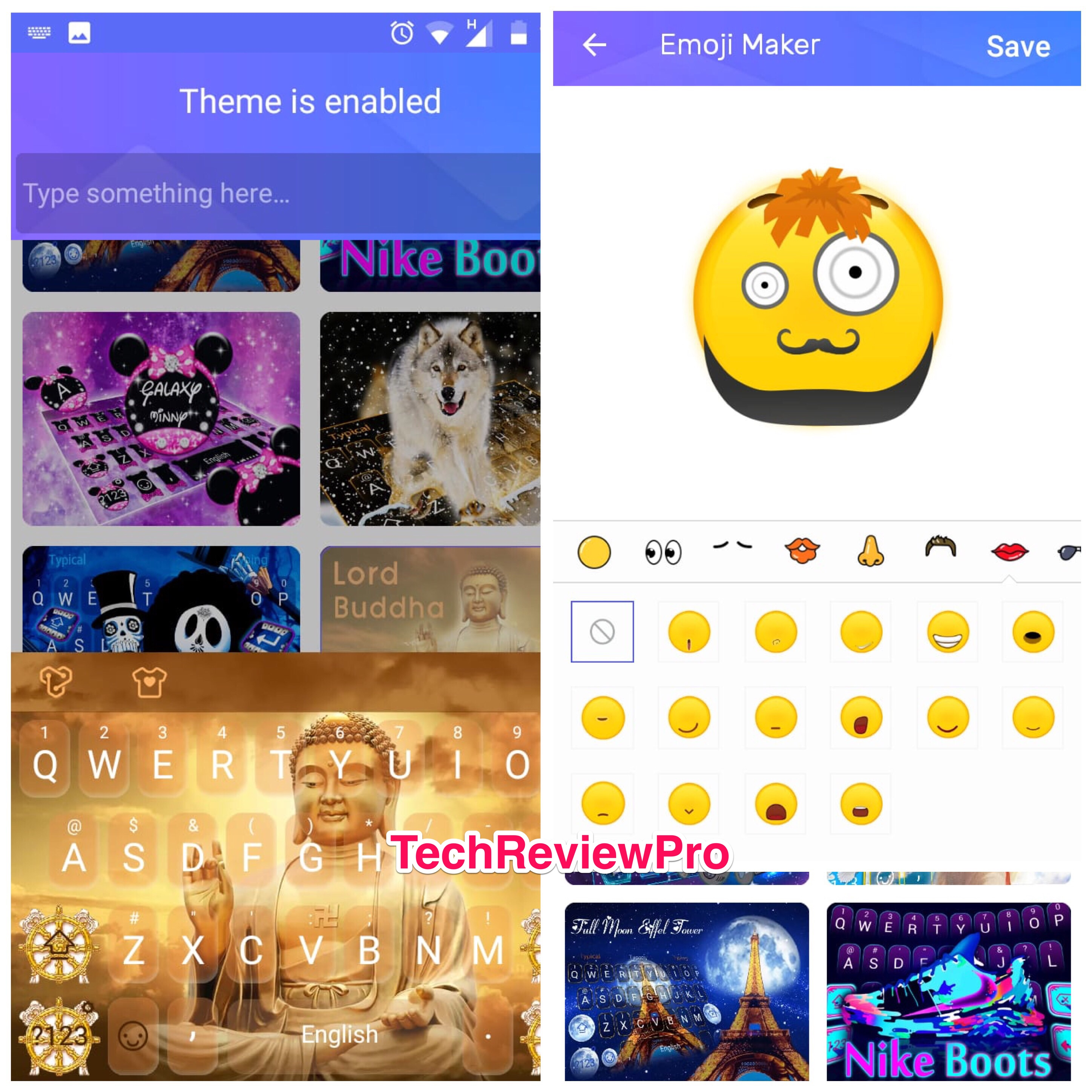 Typany - best keyboard app with emoji - Best Keyboards with Emojis for Android