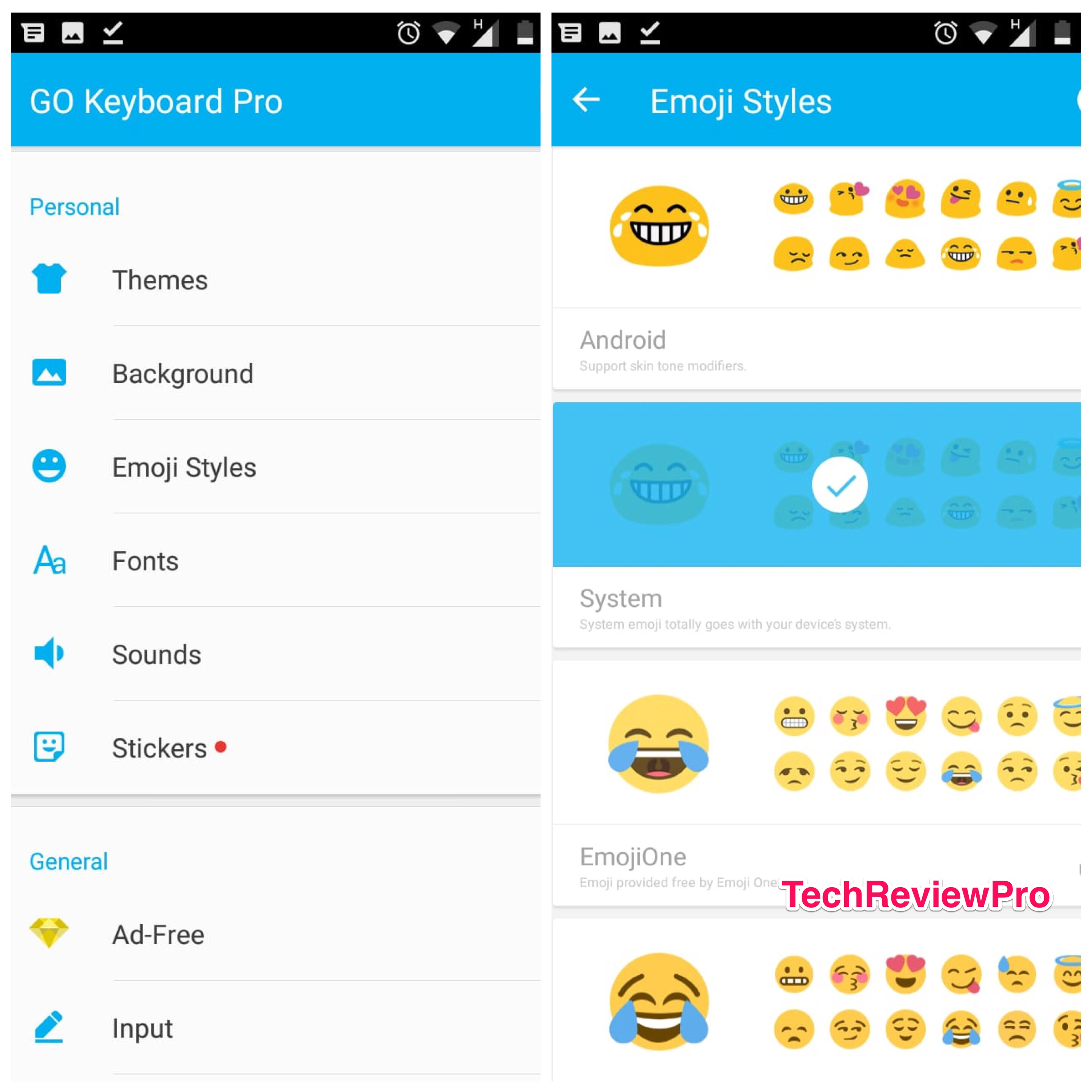 Go Keyboard Pro - Best Keyboards with Emojis for Android - Animated Emoji App