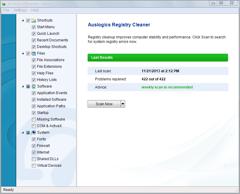 Auslogics Registry Cleaner - Best Free PC Registry Cleaner Software for Windows