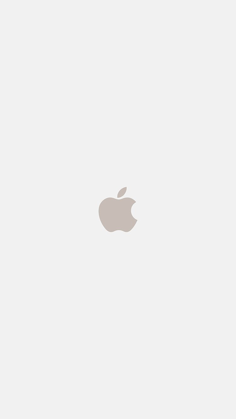 Clean Apple Logo Wallpaper for iOS 12