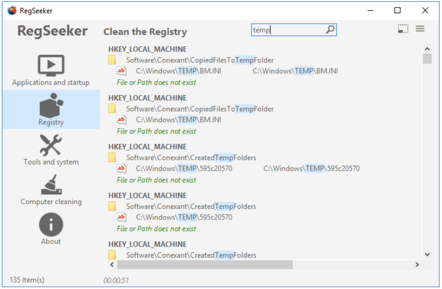 RegSeeker Windows Registry Cleaner - Best Free Windows Registry Cleaner Tool for PC