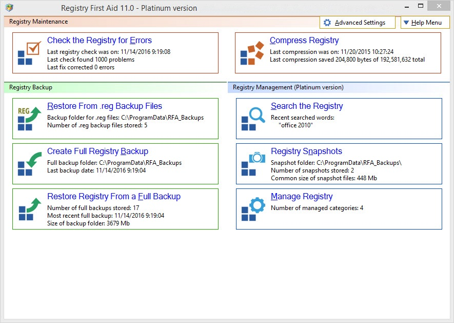 Registry First Aid - Best Windows Registry Cleaner for PC