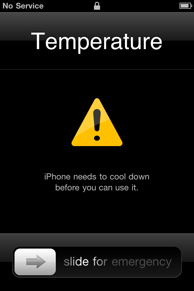 iPhone Needs to Cool Down Error