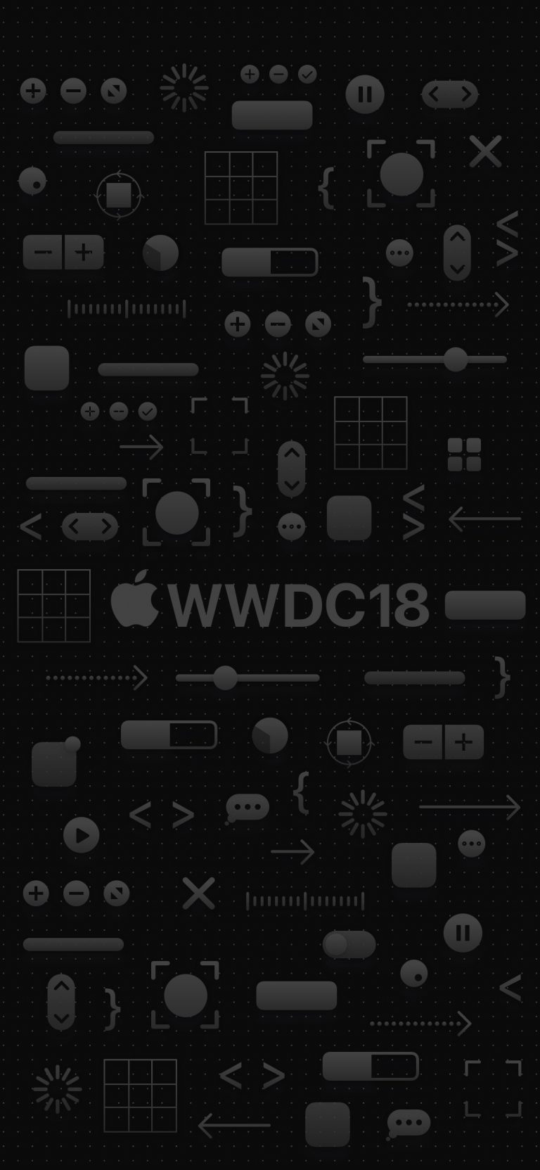 iPhone X ALL Dark WWDC iOS 12 Wallpaper