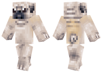 pug - best minecraft skins - 20 Best Minecraft Skins that are Really Cool - SkindexSkins