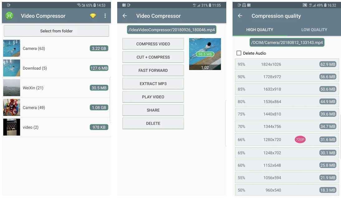 video compression app android - Fast Video Compressor App Android