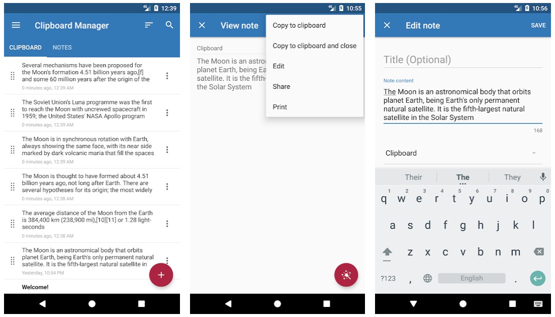Clipboard Manager - Best New Android Apps of the Month