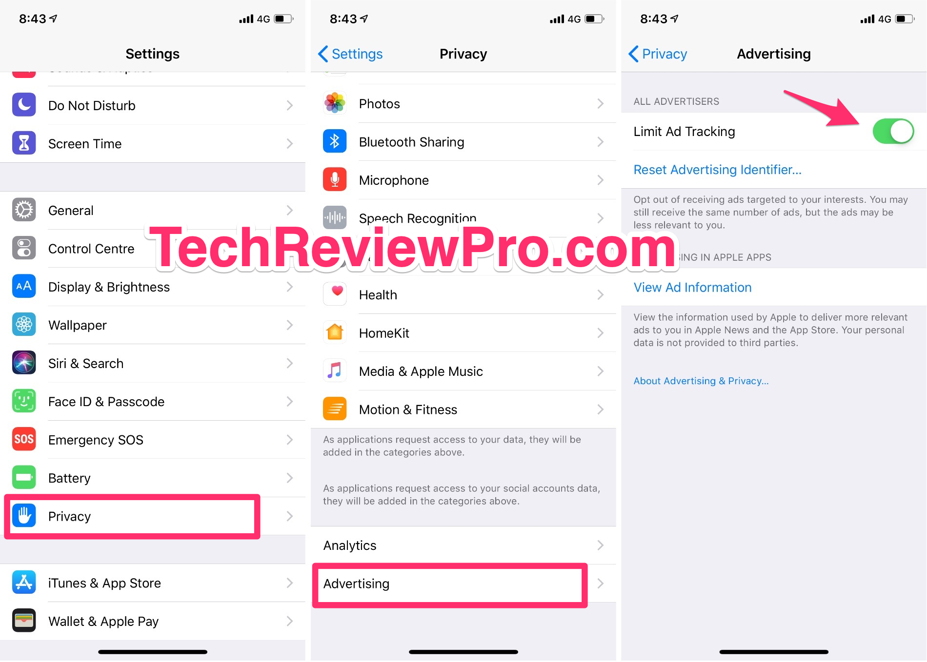 Limit Ad Tracking on iPhone XR - iOS 12 Hidden Tips Tricks