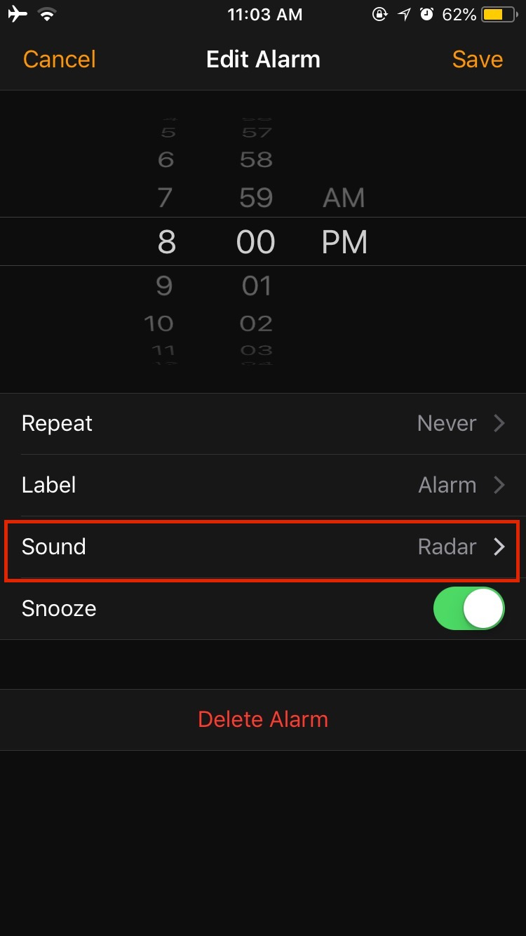 Alarm on iPhone Not Working
