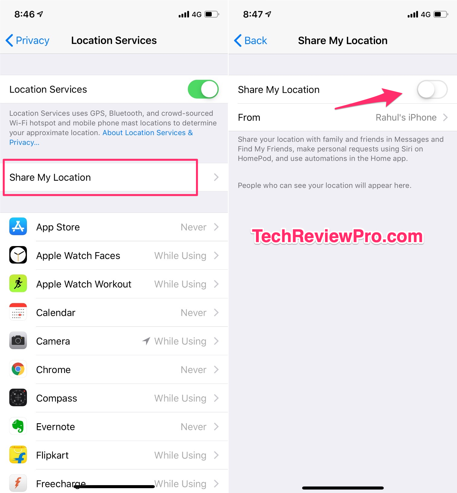 Turn Off Location Sharing on iOS 12 Hidden Settings and Tips Tricks