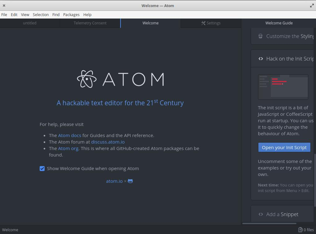 atom - Get Notepad++ on Linux - Best Notepad Alternatives for Linux