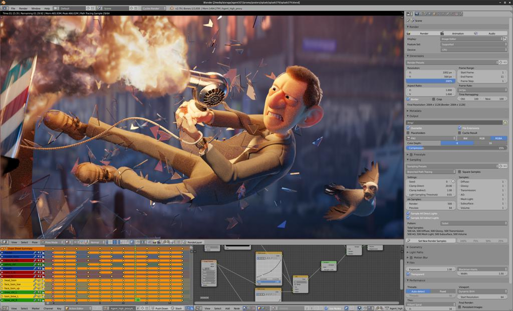 blender - Best Linux Video Editing Software for Editing Videos on Linux