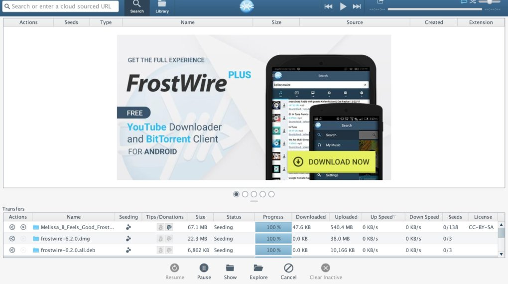 frostwire - Best Ubuntu Torrent Clients for Ubuntu Linux