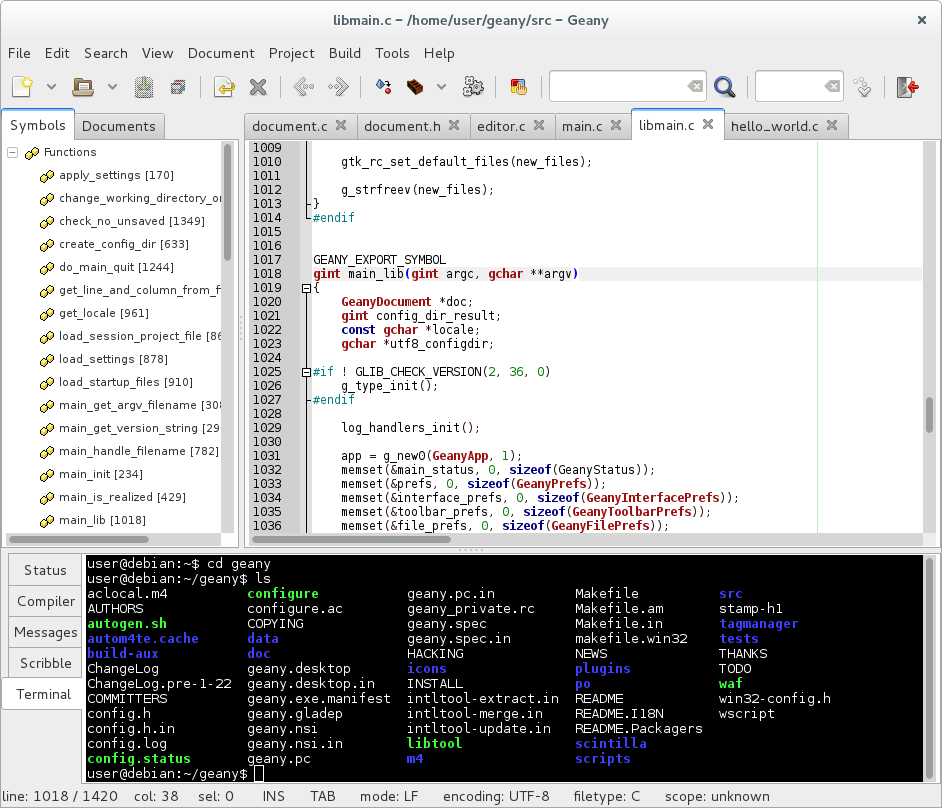 geany code editor - Get Notepad++ on Linux - Best Notepad Alternatives for Linux