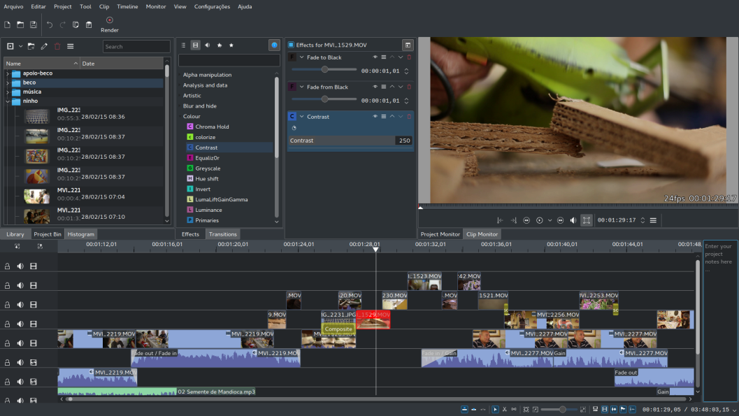 kdenlive - Top 10 Best Linux Video Editing Software for Editing Videos on Linux