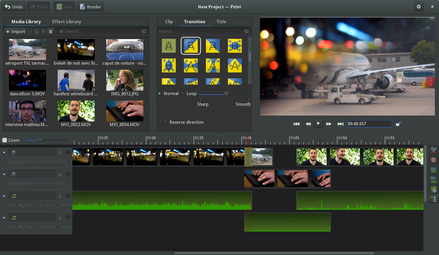 pitvi - video editor for linux - Best Linux Video Editors