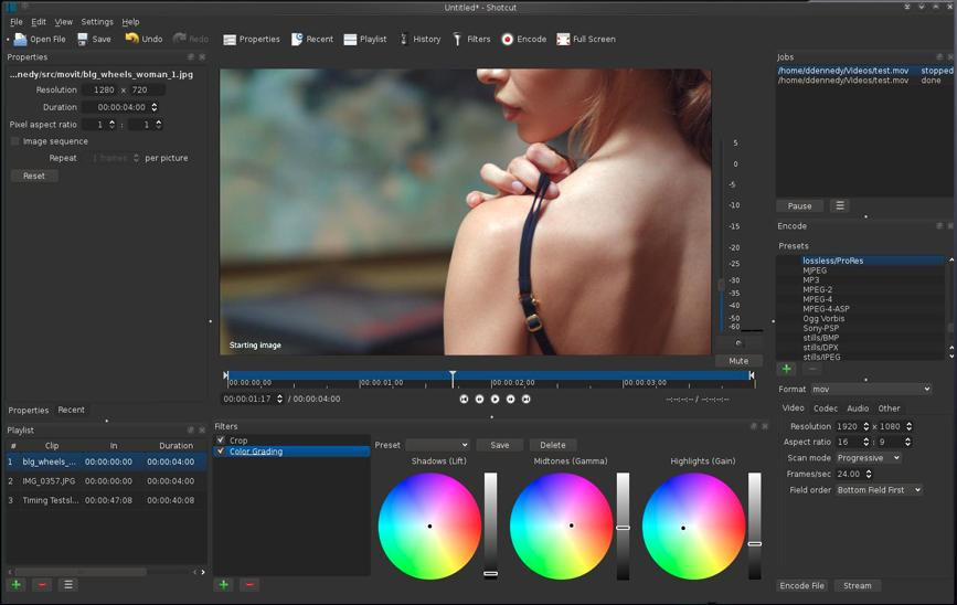 shotcut linux video editor - Best Linux Video Editing Software