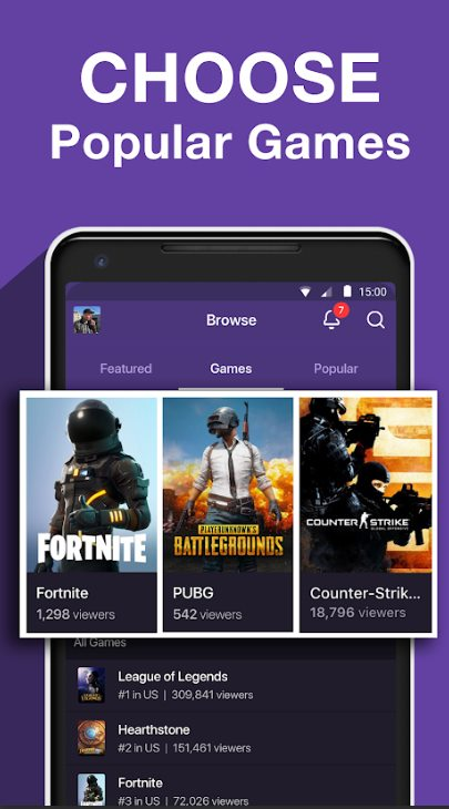 twitch - Best YouTube Alternative Video Watching Apps